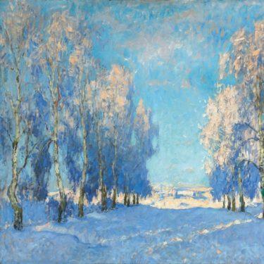 Gorbatov, Konstantin. Jour d'hiver. 1934. Peinture. Collection particulière.