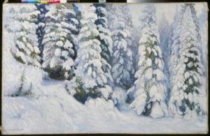 Borisov, Alexande. Wintermärchen. 1913. Peinture. Vologda, Musée.