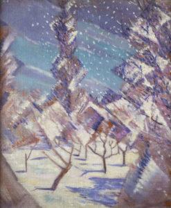 Nevinson, Christopher Richard Wynne. Les quatre saisons : hiver. 1919. Peinture. Collection particulière.