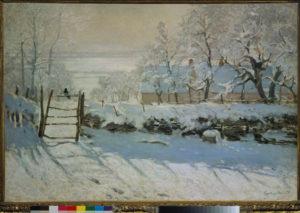 Monet, Claude. La pie. 1868-1869. Peinture. Paris, Musée d'Orsay.