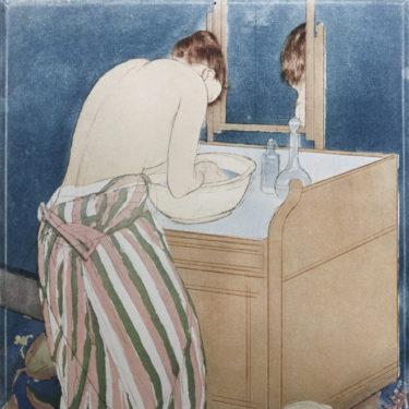 Cassatt, Mary. La Salle de bain. Vers 1891. Gravure. Paris, Bibliothèque nationale de France